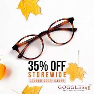 35% OFF sitewide w/code on Frames priced from £9.95 - Get Complete Pair of Glasses from just £10.42 delivered at Goggles4U