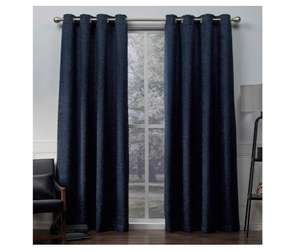 Exclusive Home Curtains Criss Cross Chenille  Room Darkening Top Window Curtain Panel Pair Navy, 54x84 @ Amazon £8.20 Prime £12.69 Non Prime