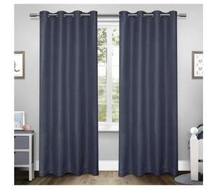 Exclusive Home Tweed Textured Linen Blackout Window Curtain Panel Pair with Grommet Top, Blue 52x84 @ Amazon £8.71 Prime £13.20 Non Prime