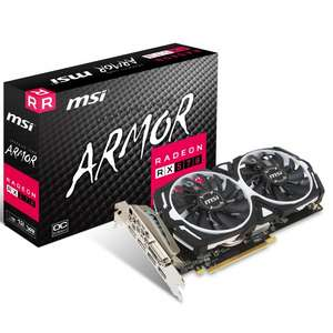 MSI Armor AMD Radeon RX 570 8GB for £158.99 (£169 next day delivery) @ OverClockers