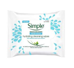 Simple Water Boost Wipes £1.49 @ SemiChem