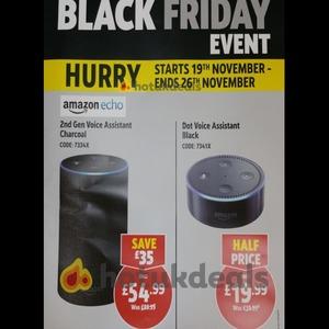 *NOW LIVE* Amazon Echo Dot 2nd Gen £19.99 and Amazon Echo 2nd Gen £54.99 both till 26 November  @ Screwfix