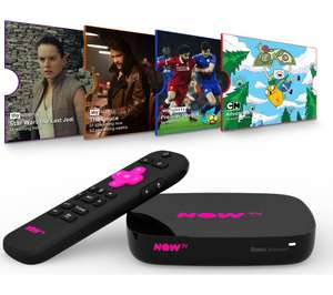 Now TV Smart Box with 4K, Voice Search, Netflix app and 4 Now TV passes £24.99 @ Currys