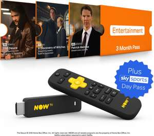 Now Tv Stick with Sky Sports Day Pass & either a 3 months Entertainment or 2 month Cinema Pass @ Currys