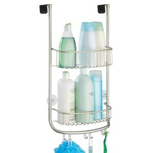 InterDesign Forma Over-Door Shower Caddy, Small Hanging Bathroom Shelves, Made of Metal, Silver £2.99 (Prime) / £7.48 (non Prime) at Amazon
