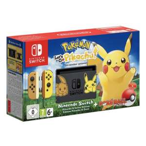 NINTENDO SWITCH CONSOLE LETS GO PIKACHU LIMITED EDITION BUNDLE - £10 CHEAPER THAN RRP £339.99