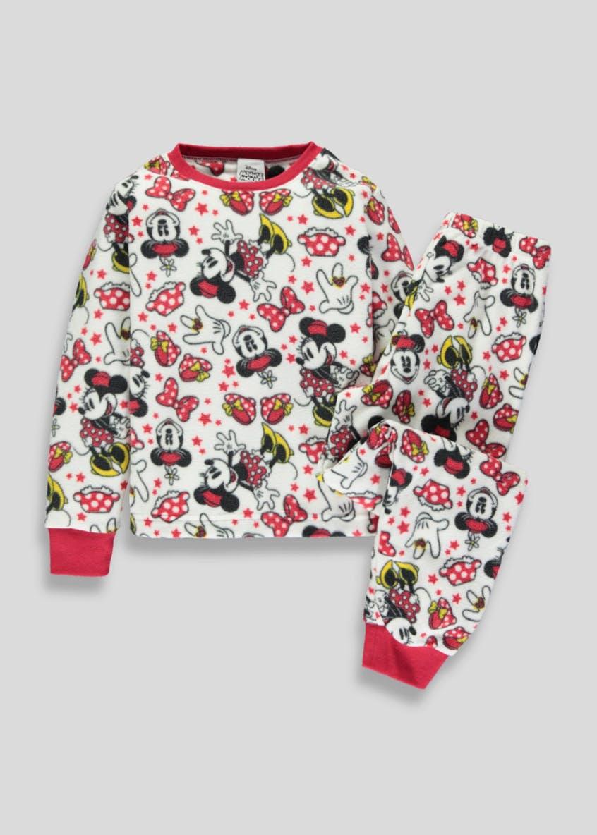 Disney kids Minnie Mouse + beauty and the beast fleece pj set £7 free c+c @ matalan (ages 2-9)