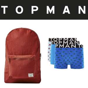Today Only - 25% off Everything Including Sale items w/code EG: Herschel Day pack £24 @ Topman (Free C&C available)