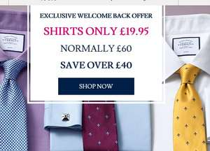 Get Charles Tyrwhitt shirts for £19.95 plus a free tie worth £29.99. Special Link in the description