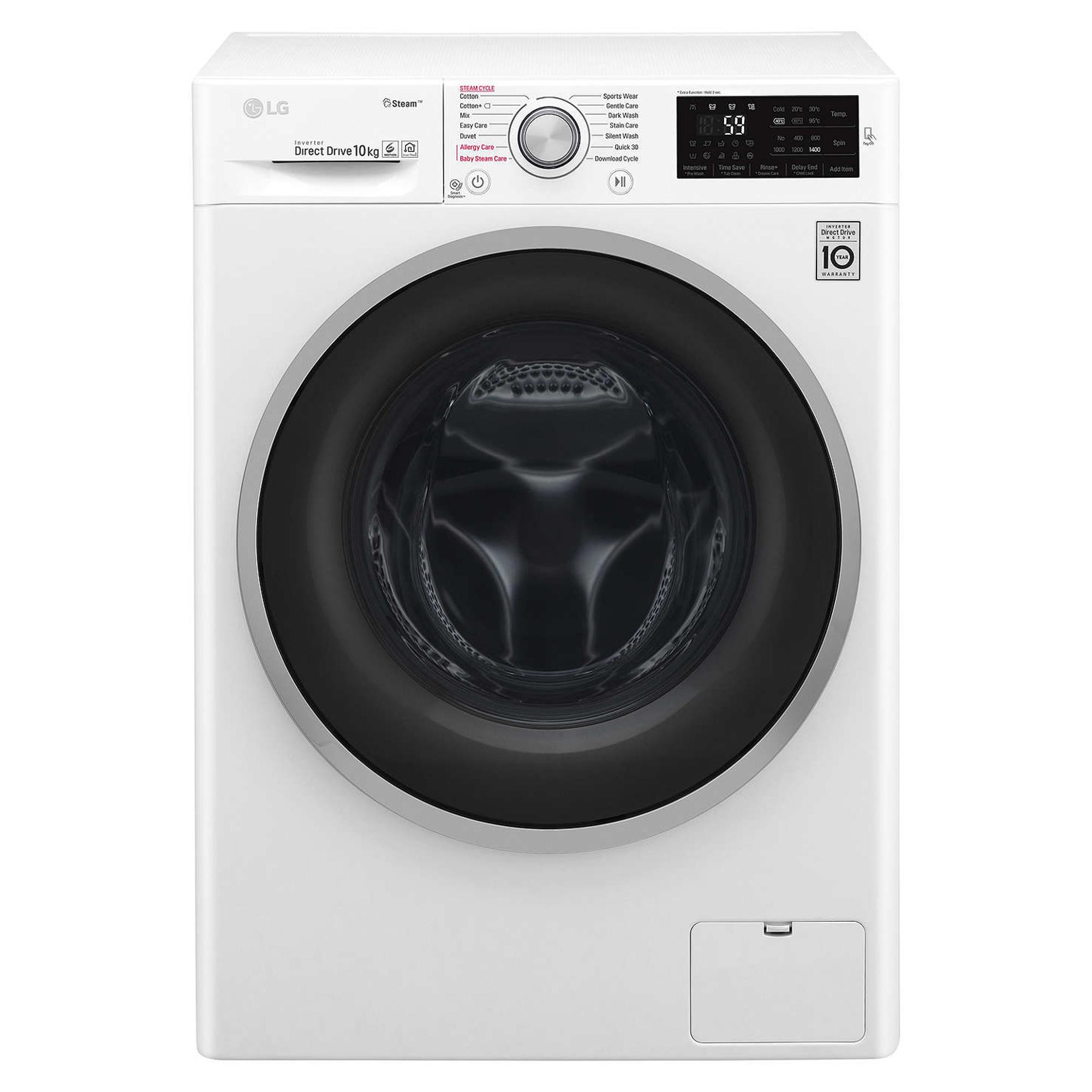 LG F4J6JY1W Steam 10Kg 1400rpm Washing Machine £399 / Zanussi ZWF01483WH 10kg 1400 rpm £299 / AEG L6FBI842N 8kg 1400rpm £329 w/code @ hughes