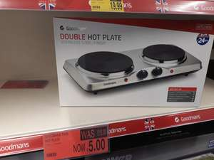 Goodmans double hot plate was £25 NOW £5 b&m