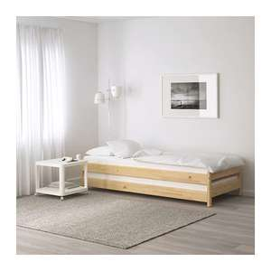 UTÅKER stackable bed (2 per pack / pine) £99 down from £150 @ IKEA [for IKEA FAMILY members]