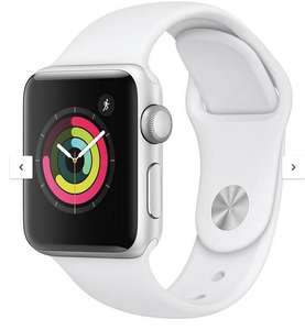 £50 cash back on selected Apple watch - Watch Series 3 (2018 GPS), 38mm Silver Aluminium Case with White Sport Band £229 @ very - BNPL