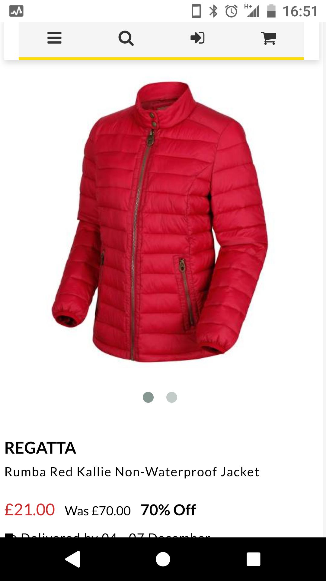 Regatta Rumba Red Kallie Non-Waterproof JacketFor £26.95 Delivered @ Brandalley
