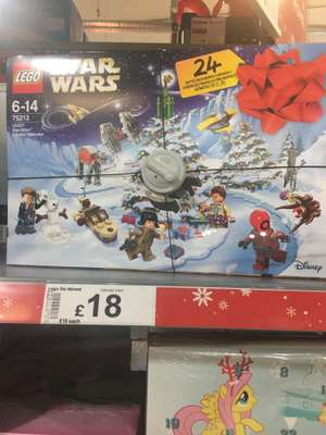 Lego City and Star Wars Advent £18 Asda on-line and in store.