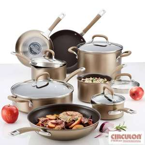 Circulon Premier Hard Anodised Induction 13 Piece Cookware Set in Bronze - £161.89 @ Costco