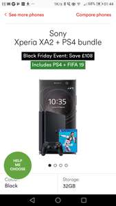 Sony Experia xa2 & PS4 & FIfa 19 bundle. £27.50 a month / 18 months at Virgin Media