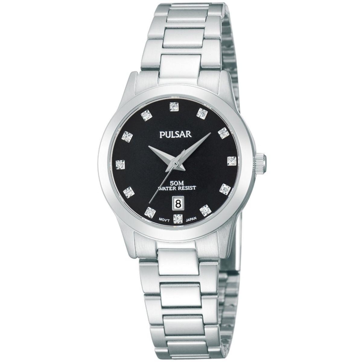 Ex-Display Pulsar Ladies Stainless Steel Quartz Watch PH7277X1-PNP 50M WR, Swarovski Hour Markers, £24.99 @ Rubicon Watches