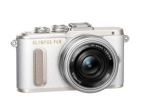 Olympus PEN E-PL8 14-42 EZ Pancake Zoom Kit Compact System Camera - White for £299 delivered @ Amazon