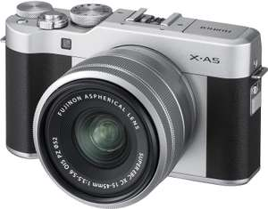 Fujifilm X-A5 (Silver) with Silver XC 15-45 lens for £299 (Prime) delivered @ Amazon - Prime Exclusive (+£45 cashback)
