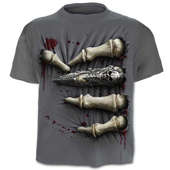 Men's 3D Skull T-Shirt £4.75 delivered at Geekbuying