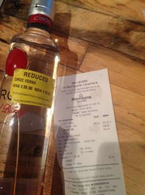 Ciroc, 50% off to £19.25 in morrisons