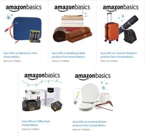 20% Off all AmazonBasics Products + Extra 15% Off for Student Prime members