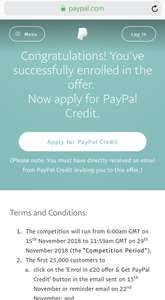 Get £20 off a PayPal buy when you spend £40 with PayPal