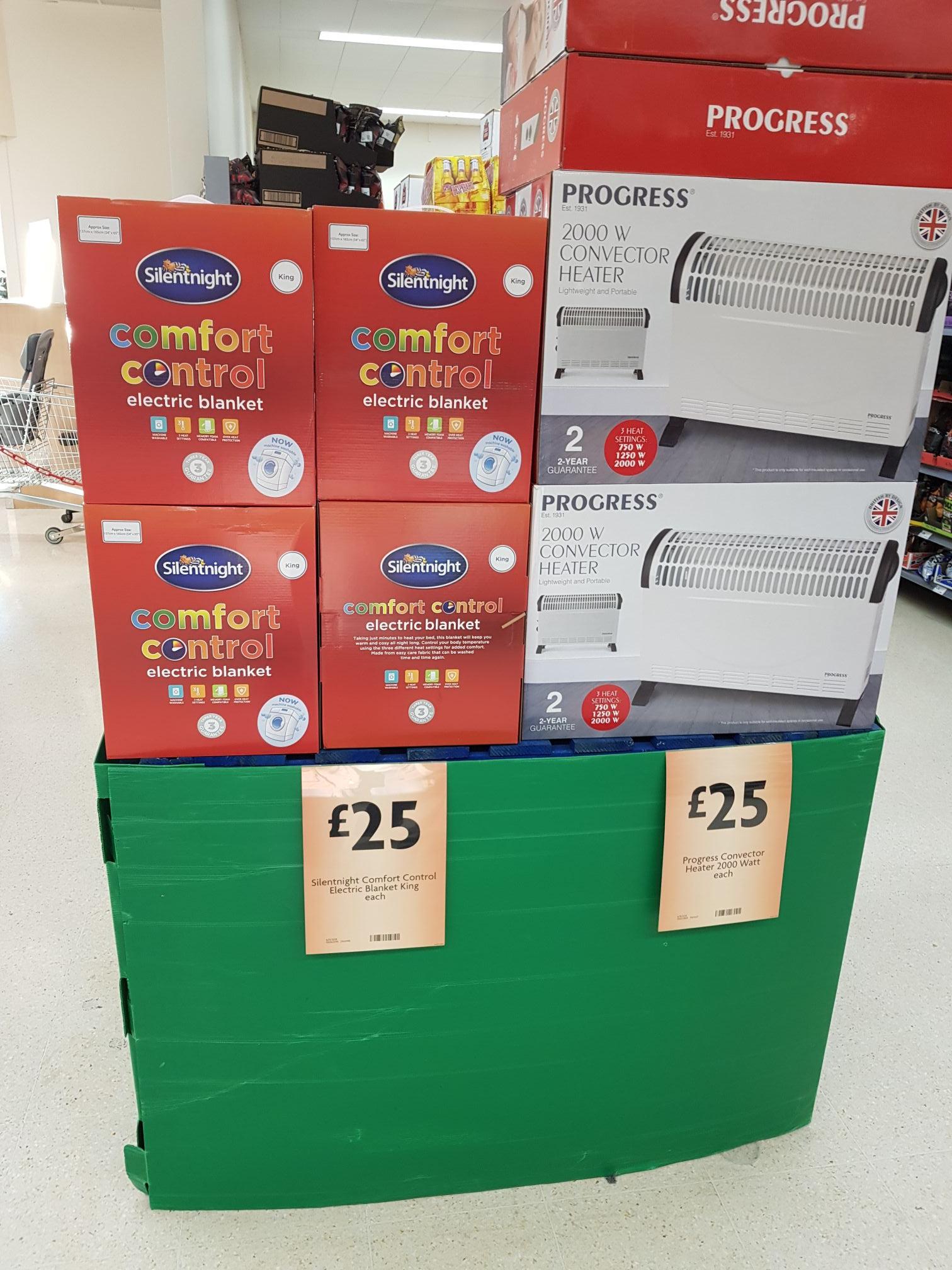 Silentnight comfort control electric blanket King size £25 @ Morrison's