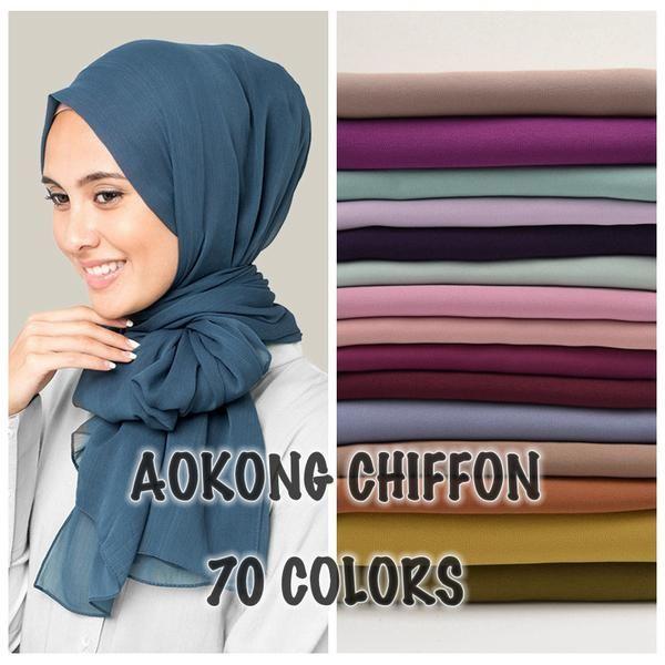 Exclusive Range of Chiffon Hijabs MI Dubai -  £3.95 each @ eBay UK SCARVES-LONDON Delivered Free
