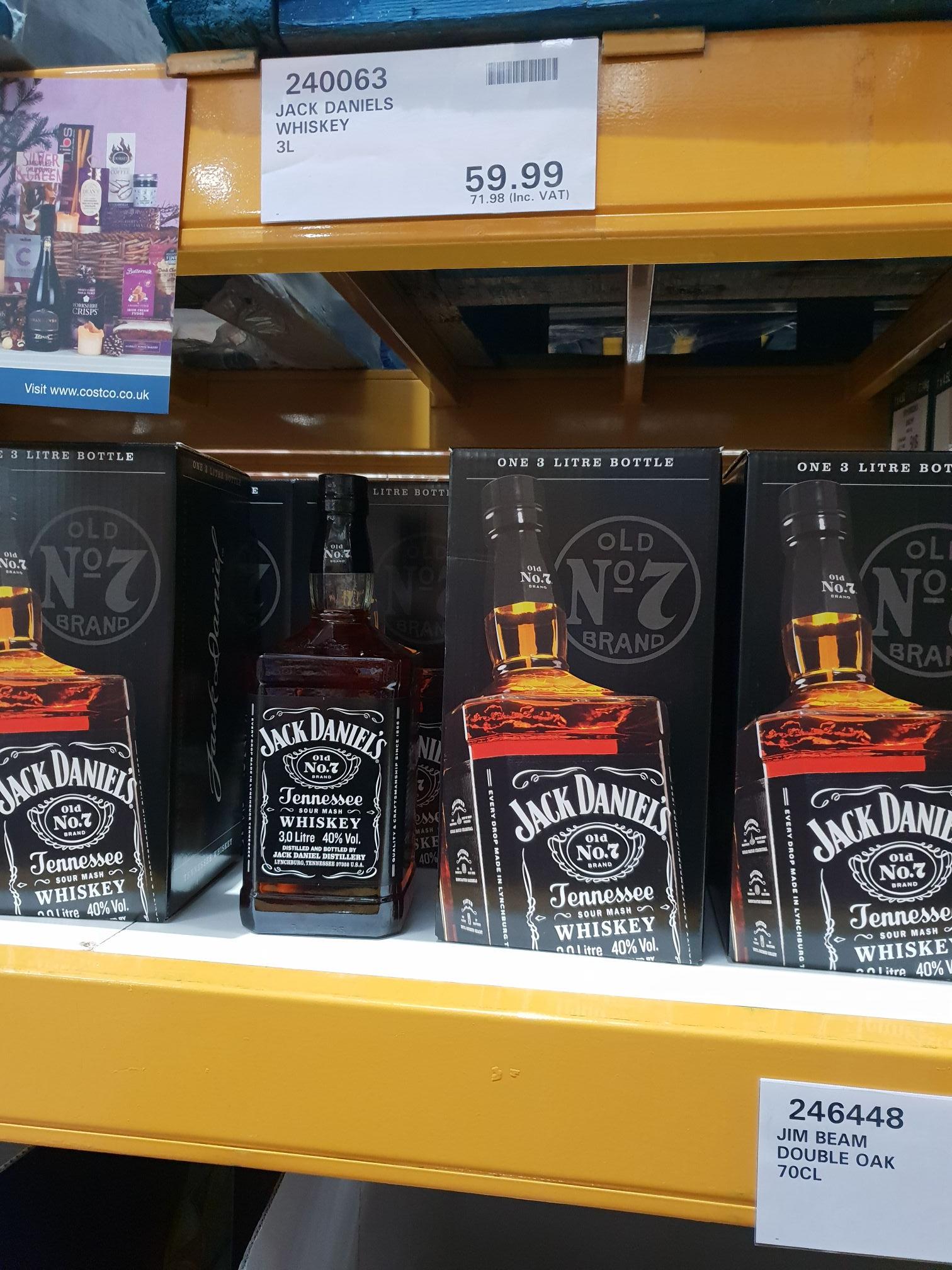 Jack Daniel's Whiskey, 3 Litre Costco - instore @ Costco