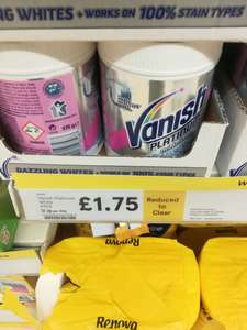 Tesco vanish platinum white - £1.75 instore @ Tesco (Rochdale)