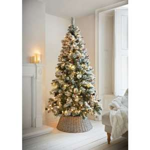 7ft pre lit Xmas tree with pine cones and red berry's £100 @ B&M