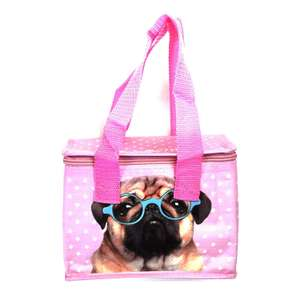 Woven Cool Bag Lunch Box - Jack Evans Pink Pug £2.10 (£4.49 delivery Non Prime) @ Amazon