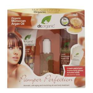 Dr Organic Moroccan Argan Oil Pamper Perfection Gift Set @ Holland and Barrett was £25, now £12
