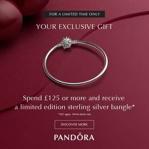 PANDORA Black Friday - Free £75 Bangle with £125 Spend @ The Jewel Hut