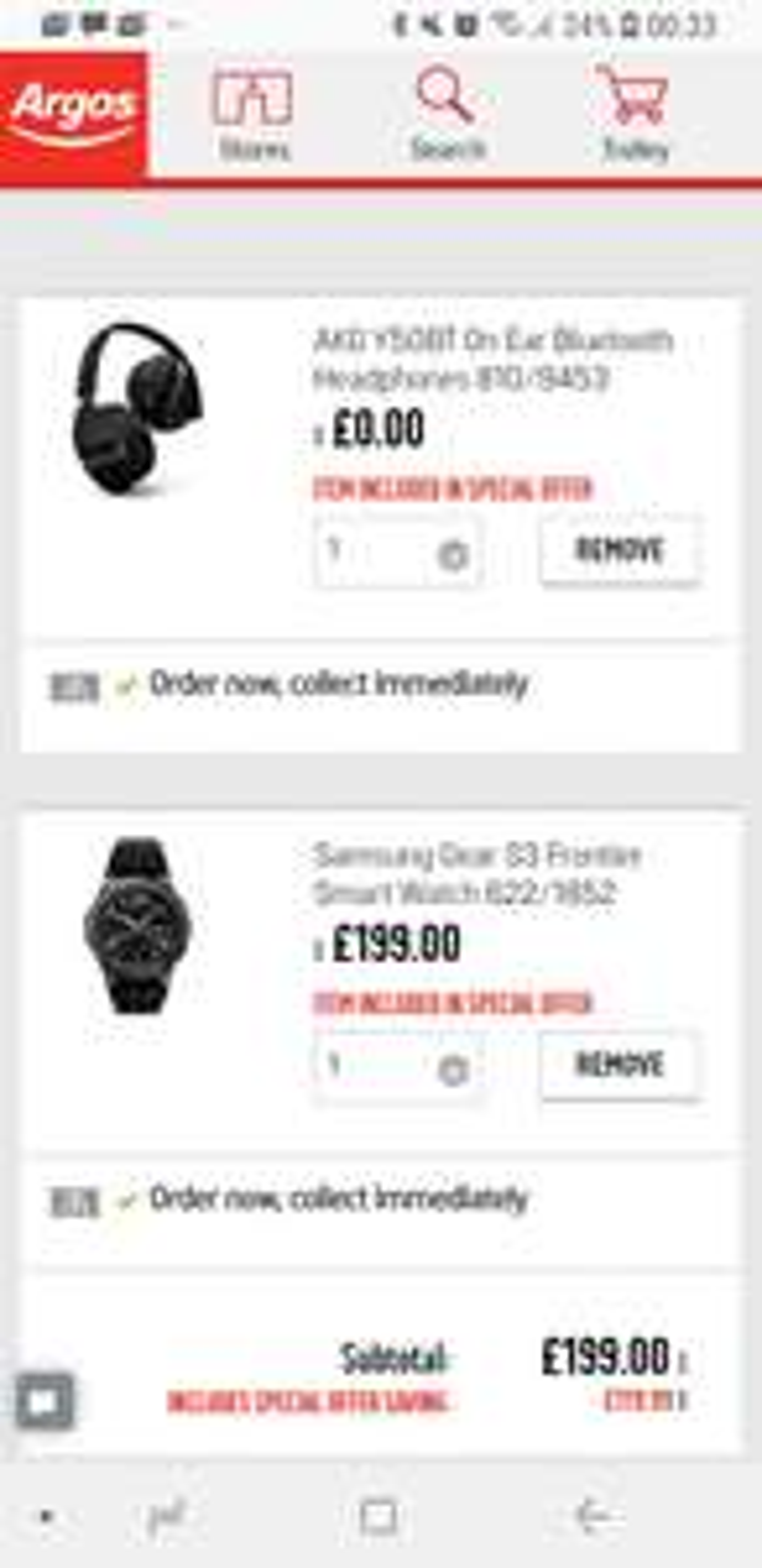 Samsung Gear S3 Frontier + Free AKG Y50BT Bluetooth Headphones at Argos £199