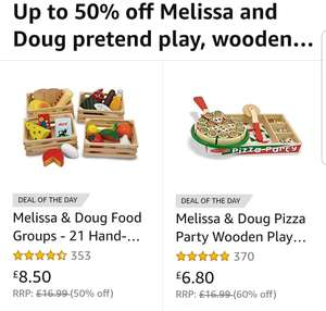 Up to 50% off Melissa and Doug pretend play and wooden toys Amazon black Friday deal