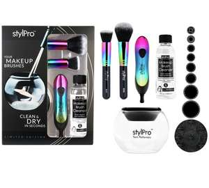 stylPro Argos Exclusive Iridescent Rainbow Make-up Brush Cleaner & Dryer SAVE 33% £32.99 @ Argos