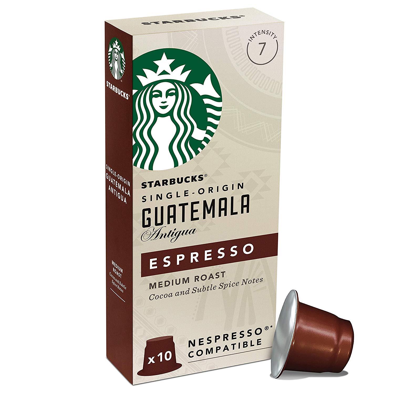 Starbucks Guatemala Espresso Capsules, Nespresso* Compatible (Pack of 12 , Total 120 capsules) - £29.98 @ Amazon