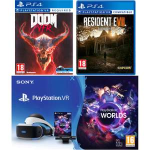 Sony PlayStation VR Kit with Resident Evil 7 Biohazard and Doom VFR £199 at AO.com with Free Delivery