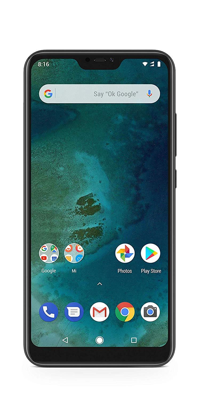 Xiaomi Mi A2 Lite - D1S (Dual SIM) with 4GB RAM and 64GB Storage 5.84-Inch Android 8.1 UK Version SIM-Free Smartphone £159.99 Amazon