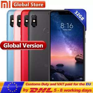 Global version Xiaomi Redmi Note 6 Pro 3GB/32GB Blue for £132.54 Delivered @ AliExpress (Mi Store)