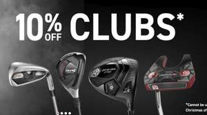 10% of all clubs at american golf currently (including sale items)