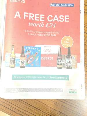 8 craft beers for £2.95 at Beer52 for new customers