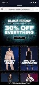 30% off everything @ Select fashion