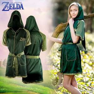 Zelda: Green Goddess Satin Robe Night Dress - £14.99 delivered @ Merchoid