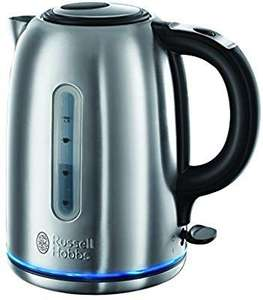 Russell Hobbs 20460 Buckingham Quiet Boil Kettle, 3000 W, 1.7 Litre, Brushed Stainless Steel Silver £21.99 @ Amazon