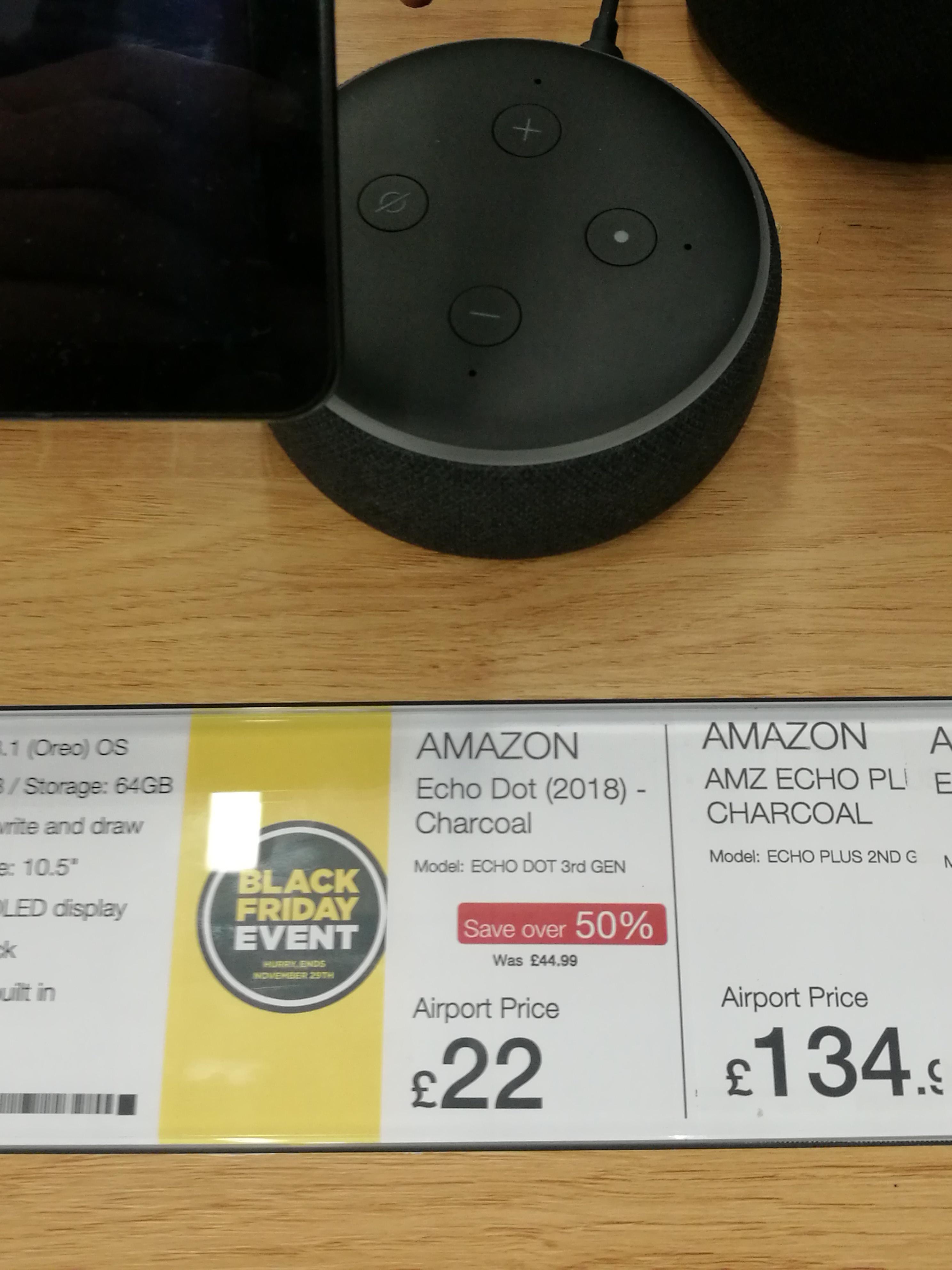 All-new Amazon Echo Dot (3rd Gen) - Smart speaker £22 @ Dixons Airport stores