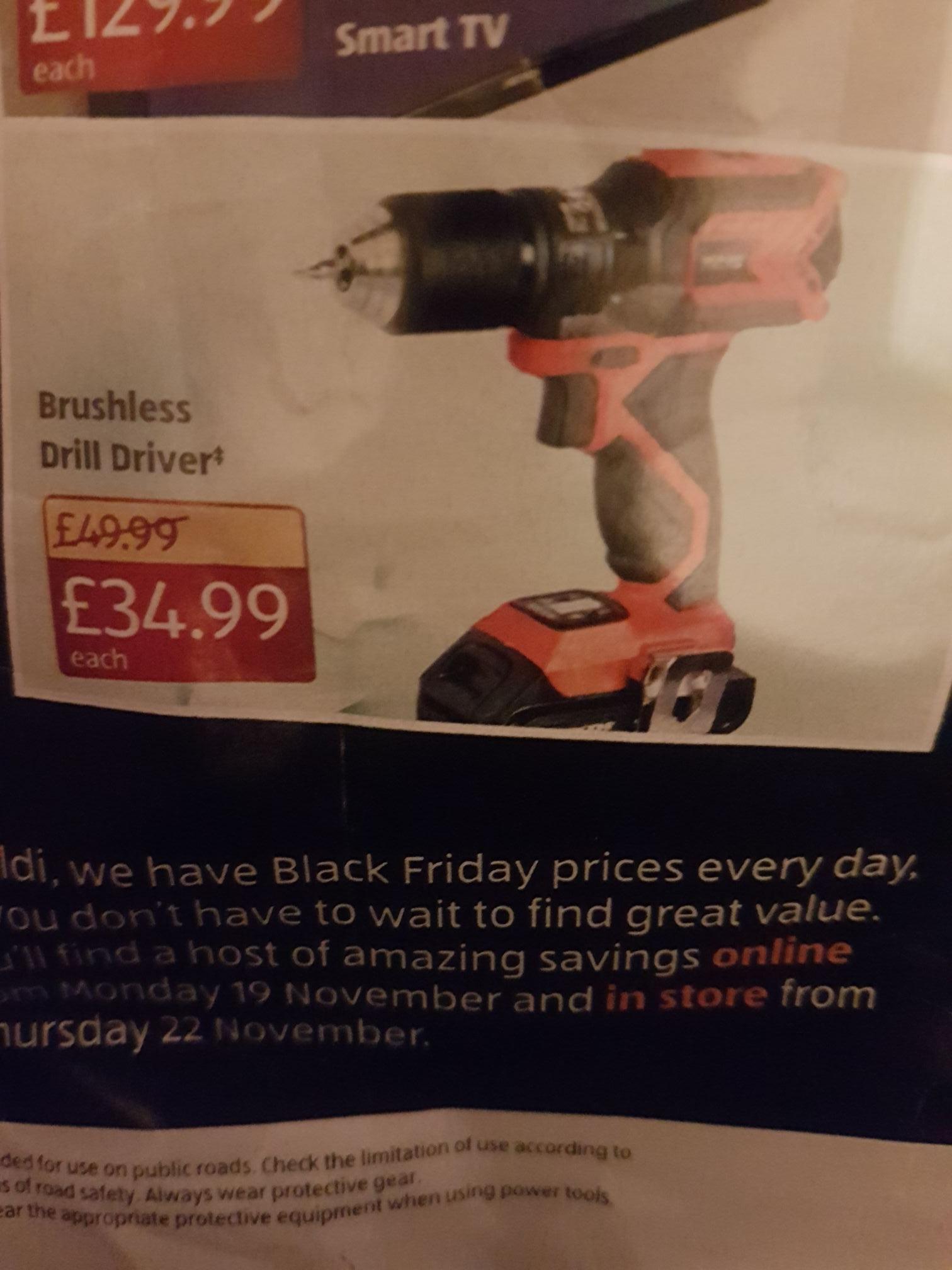 Workzone 18v brushless drill driver £34.99 @ Aldi